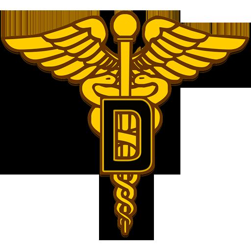 512x512 Dental Corps Caduceus Symbol Clipart Image