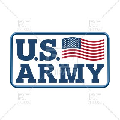 400x400 Us Army Emblem. Flag Of America. Royalty Free Vector Clip Art