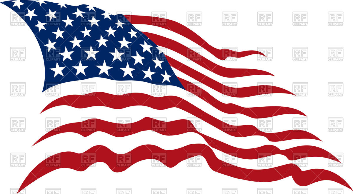 1200x660 Free Vector Us Map With States Waving American Stars And Stripes