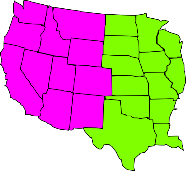 600x550 Southeast Map Clipart