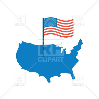 400x400 Usa Map With Flag Royalty Free Vector Clip Art Image