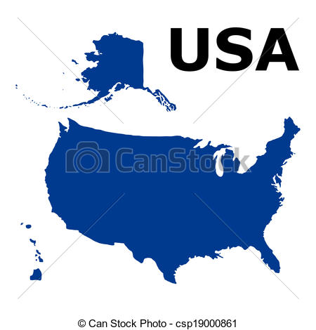 450x470 United States Of America Map Clip Art Vector