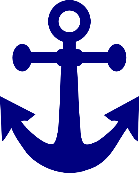 480x595 Dark Navy Anchor Clip Art
