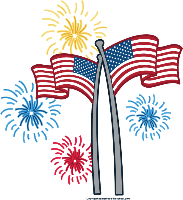 615x671 Free American Flags Clipart