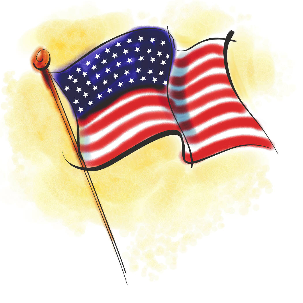 1050x1050 Day Free Clip Art American Flags, United