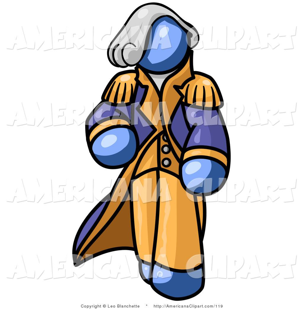 1024x1044 Americana Clip Art Of A Blue George Washington Walking By Leo