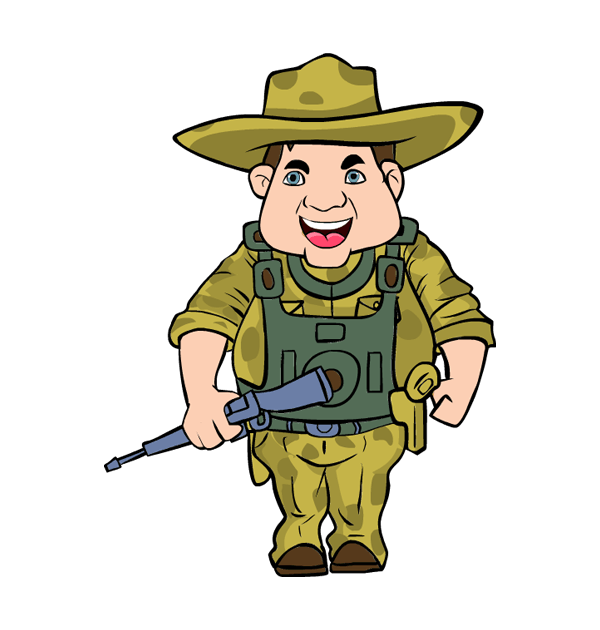 600x630 Angry Soldier Cliparts