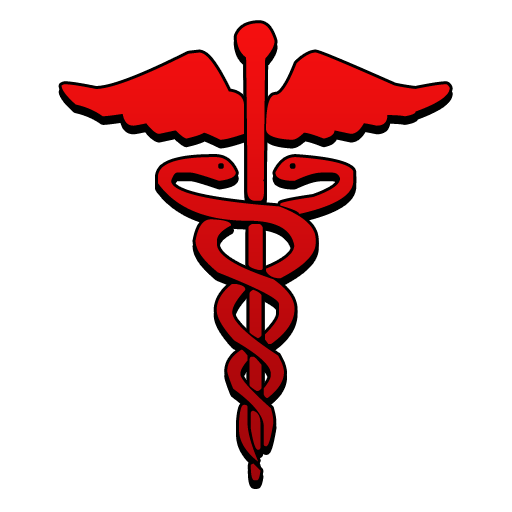 512x512 Caduceus Symbol Red Clipart Image