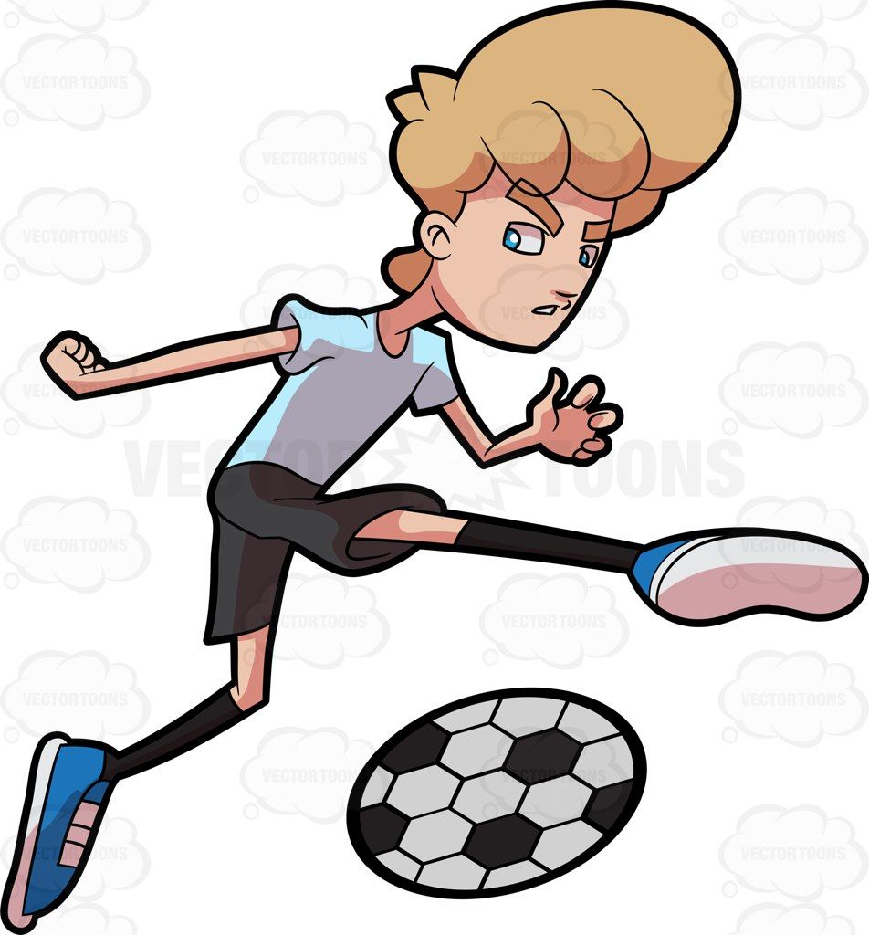 952x1024 A Man Kicking A Soccer Ball With Force Soccer Ball
