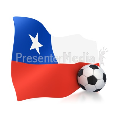 400x400 Chile Flag With Soccer Ball
