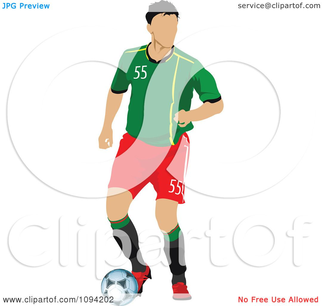 1080x1024 Clipart Faceless Soccer Player Athlete 10