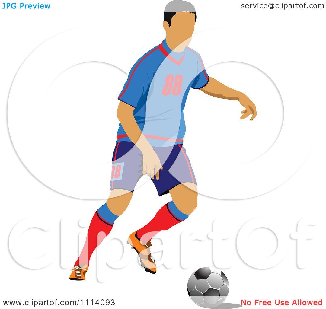 1080x1024 Clipart Soccer Football Player 1