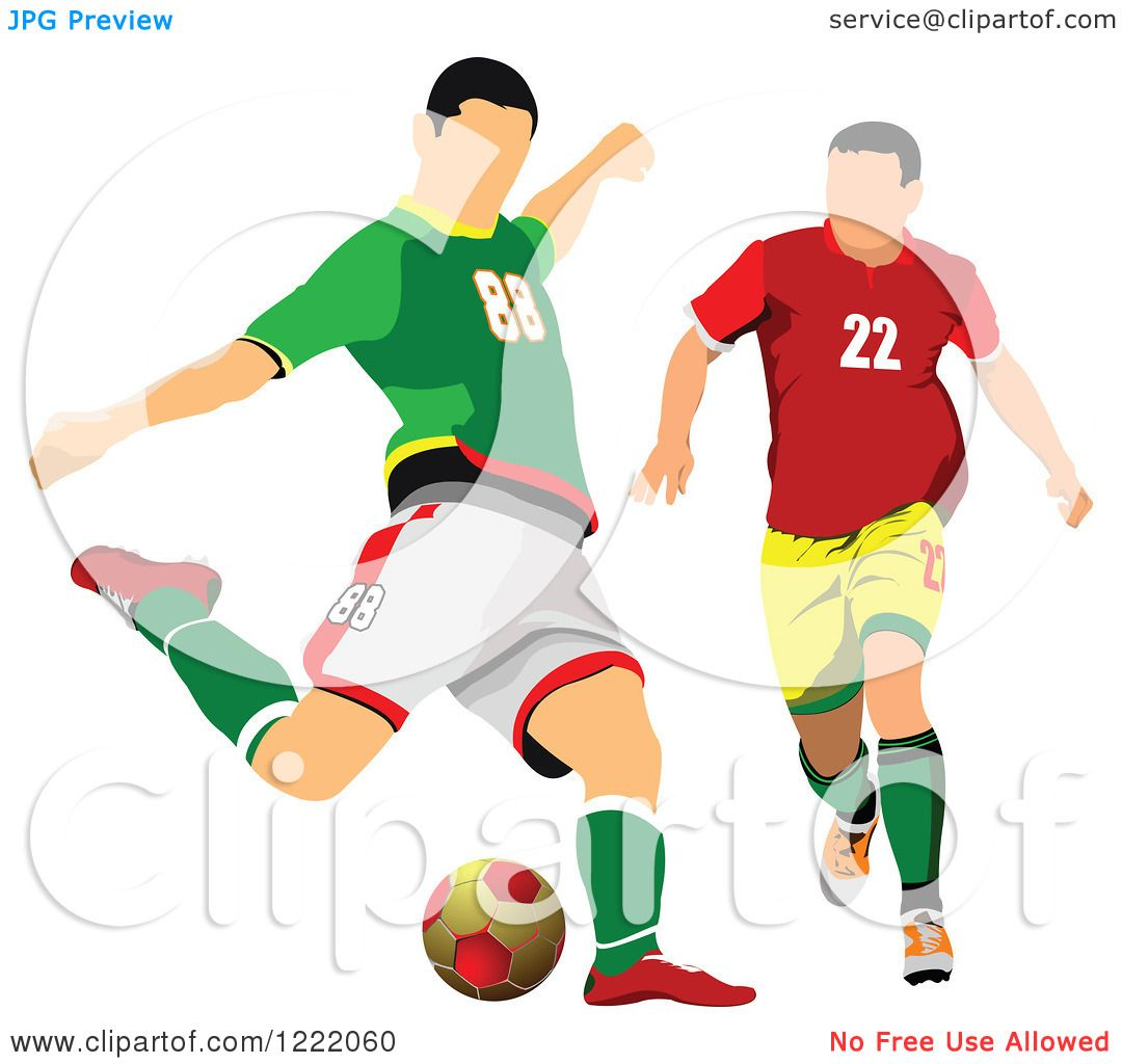 1080x1024 Clipart Of Male Soccer Players
