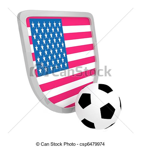 450x470 Usa Shield Soccer Isolated On A White Background Drawing