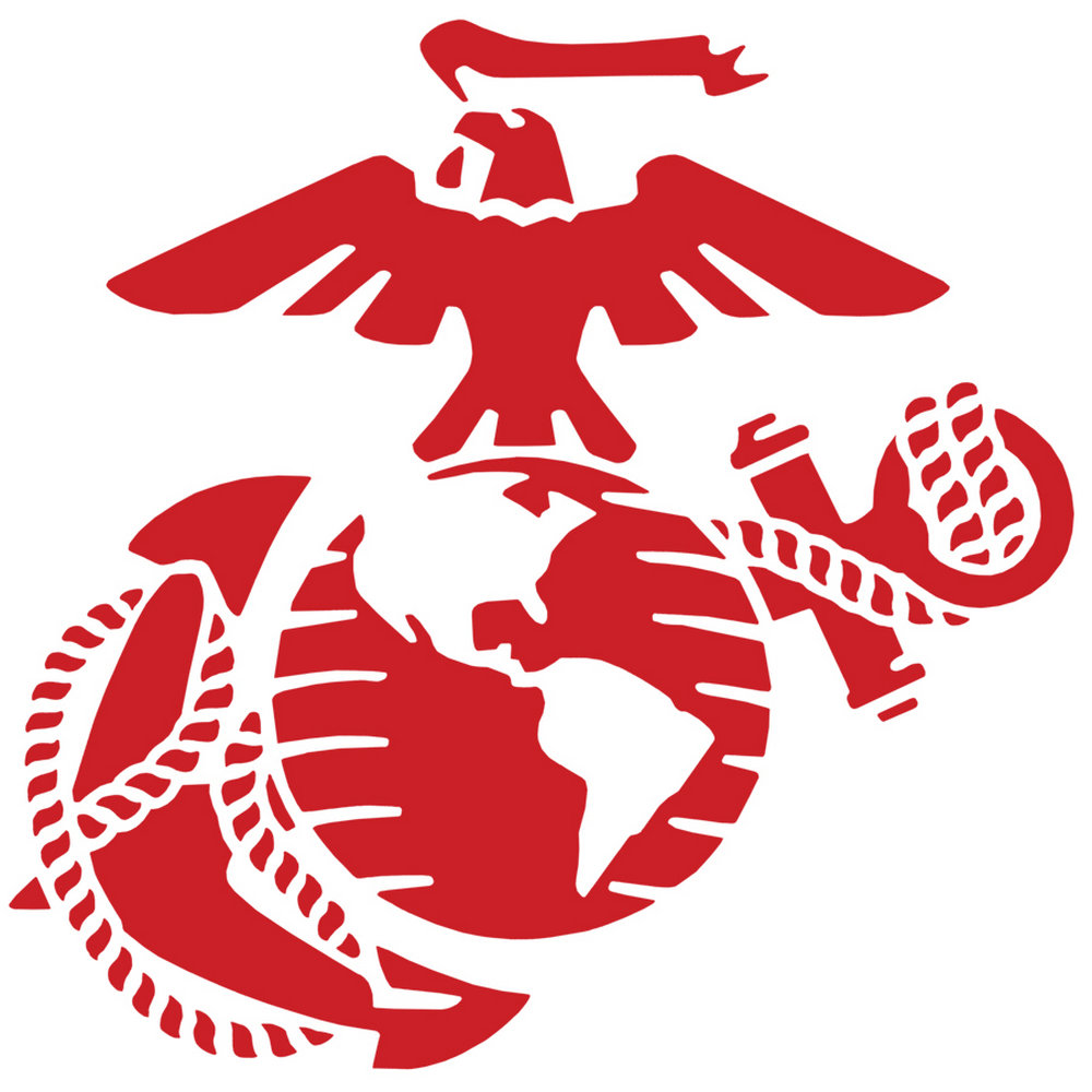 1000x1000 Eagle Globe And Anchor Clip Art Marines Stencil For Crafts Walls