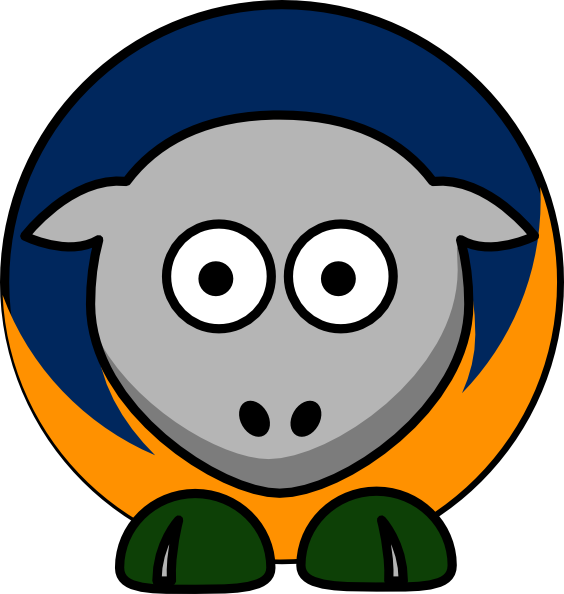 564x594 Sheep Utah Jazz Team Colors Clip Art