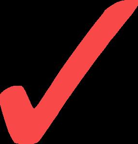 285x297 Light Red Check Mark V2 Clip Art