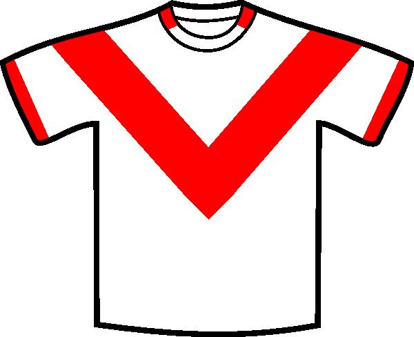 600x488 Red V Shirt Clip Art