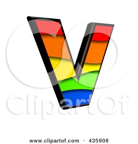 450x470 Royalty Free (Rf) Clipart Illustration Of A 3d Rainbow Symbol
