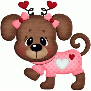 Valentine Animal Clipart