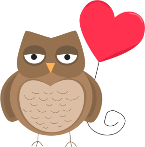 300x304 Image Of Valentine Owl Clipart