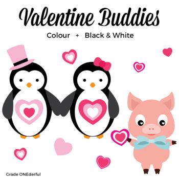 350x350 Valentine Animals Clipart, Valentine Friends, Valentine's Day Clipart