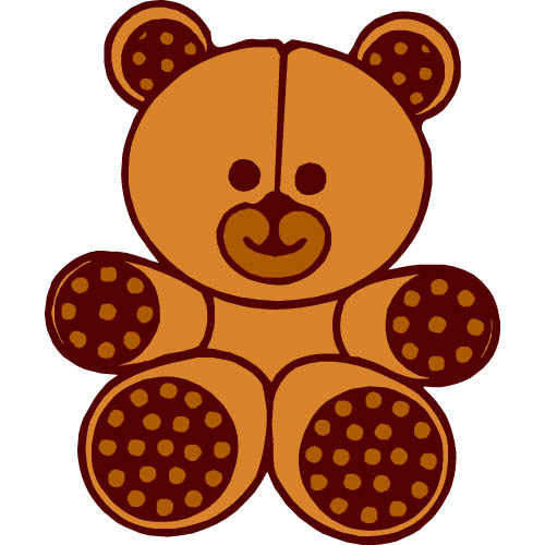 500x500 Teddy Bear Clip Art Free Clipart Clipartwiz 2