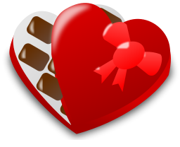 256x208 Free Valentine Chocolate Clipart, 1 Page Of Public Domain Clip Art
