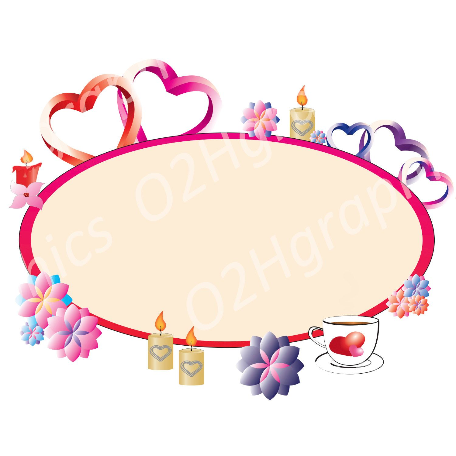 1500x1500 Valentine's Day Card Clipart Clip Art, Vector Clipart, Digital