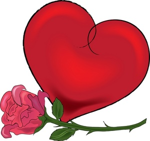 300x281 Valentine Flowers Clip Art