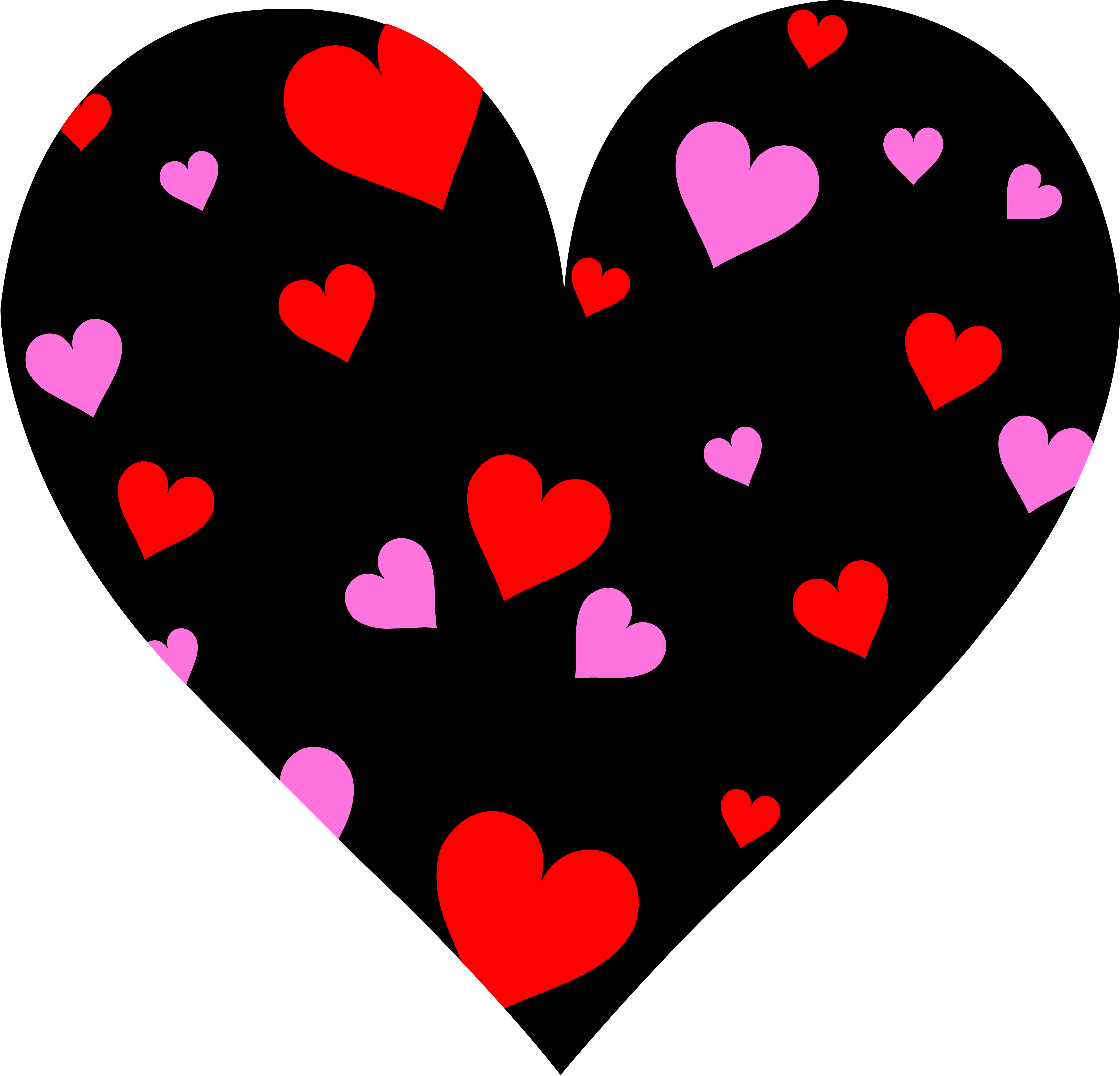 6516x6261 Cute Patterned Valentines Day Heart