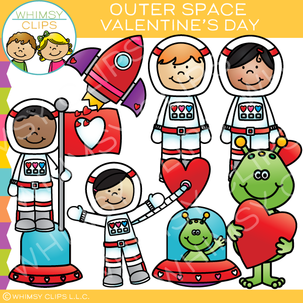 600x600 Outer Space Valentine's Day Clip Art , Images Amp Illustrations