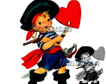 340x270 Valentine Pirate Kid Clip Art Clipart Panda