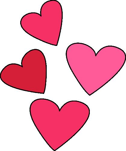 418x500 Valentines day hearts clip art valentine week 6 2