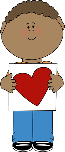 215x500 Boy With Valentine Heart Drawing Clip Art