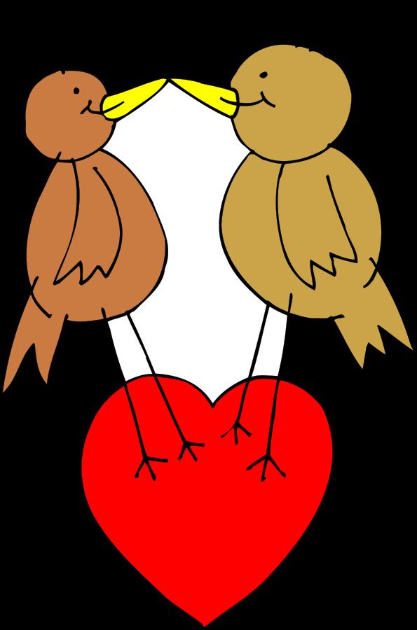 595x900 Brds Clipart Valentine