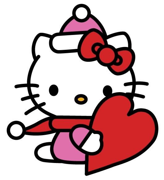 531x582 Valentine Clip Art Black And White Hello Kitty