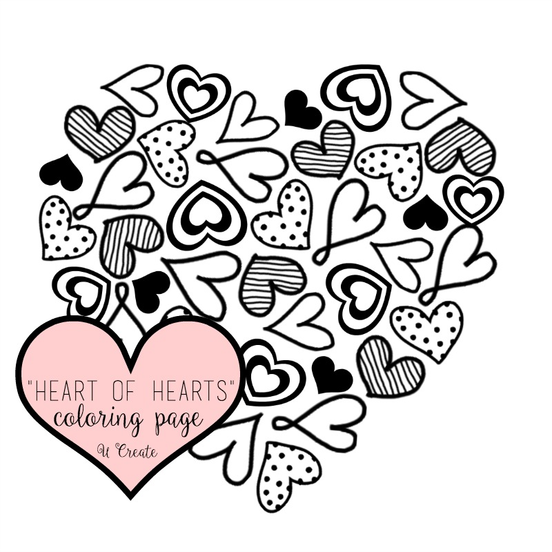 800x800 Heart Of Hearts Coloring Page Or Printable!