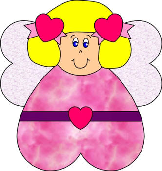332x351 Dltk Valentine Crafts Coloring In Sweet Heart Angel Paper Craft