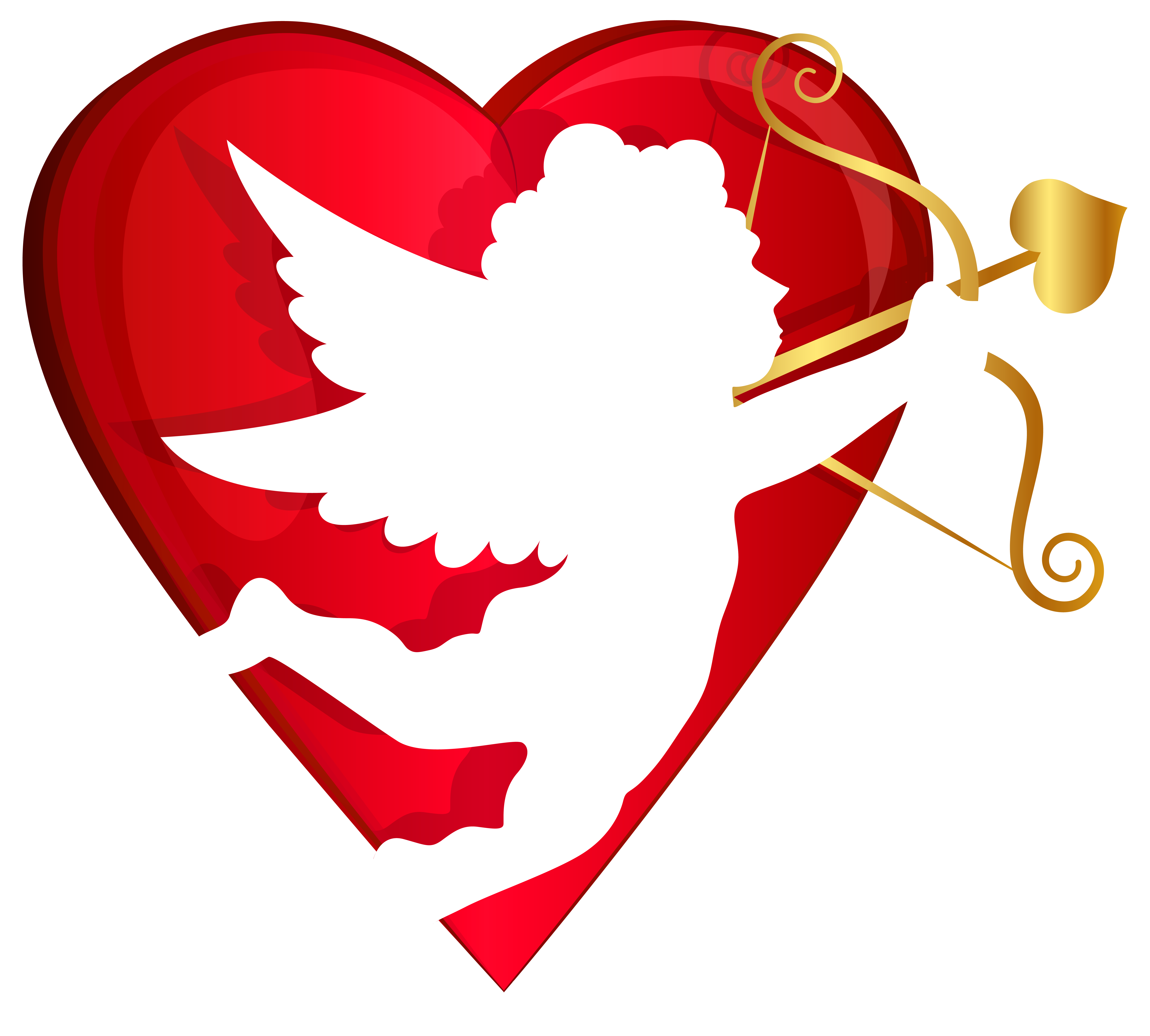 6276x5654 Red Heart And Cupid Transparent Png Clip Art Imageu200b Gallery