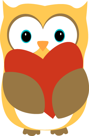 311x471 Image Of Valentine Owl Clipart