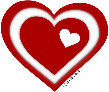 462x388 Valentine's Day Clipart Three Heart