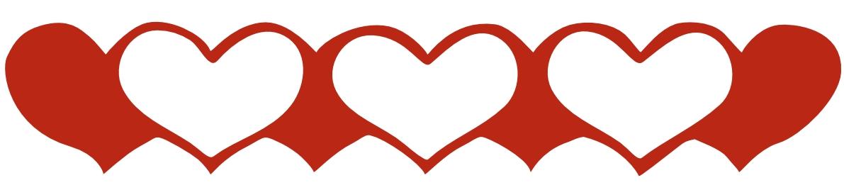 1191x261 Valentine Heart Border Clipart Valentine Hearts Border Clip Art