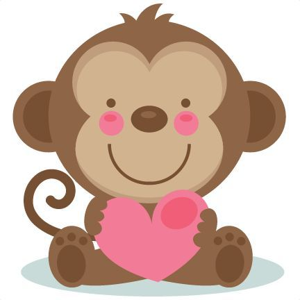 432x432 Cute Valentine Monkey