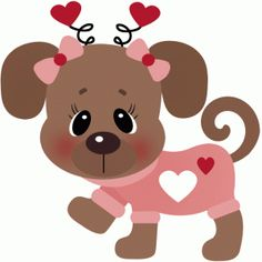 236x236 Valentine Animal Clipart Collection