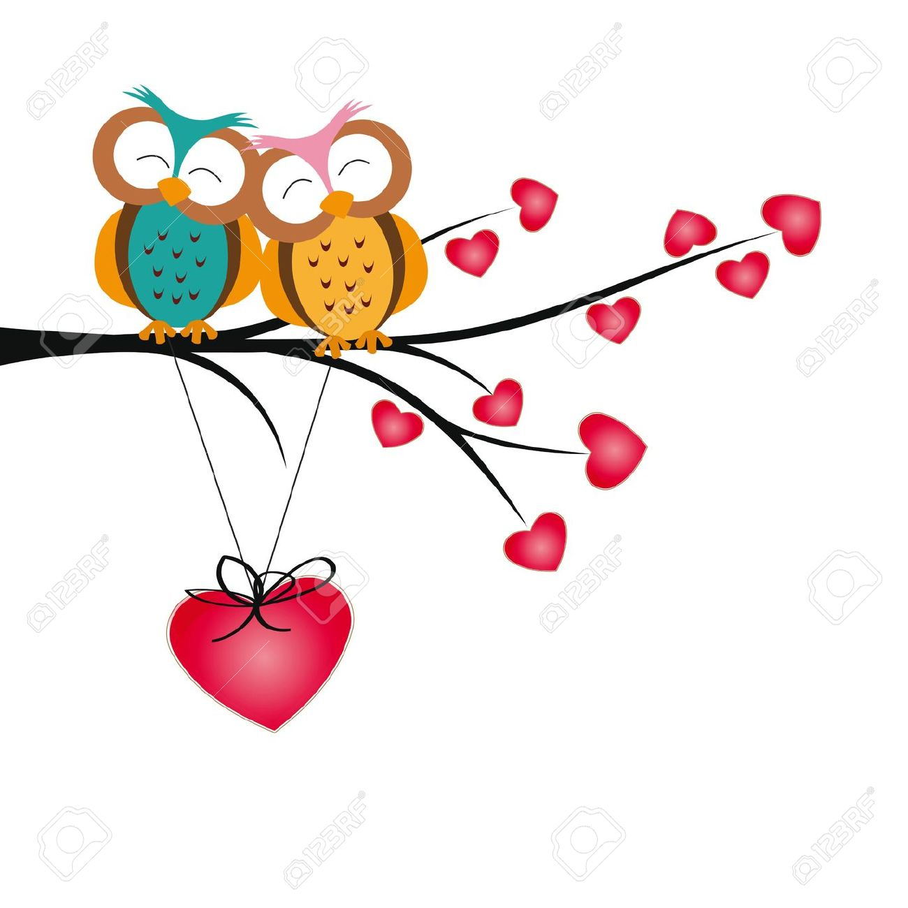 1300x1300 Collection Of Cute Valentines Day Owl Clipart High Quality