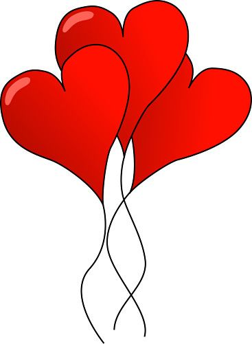 367x500 february hearts clip art