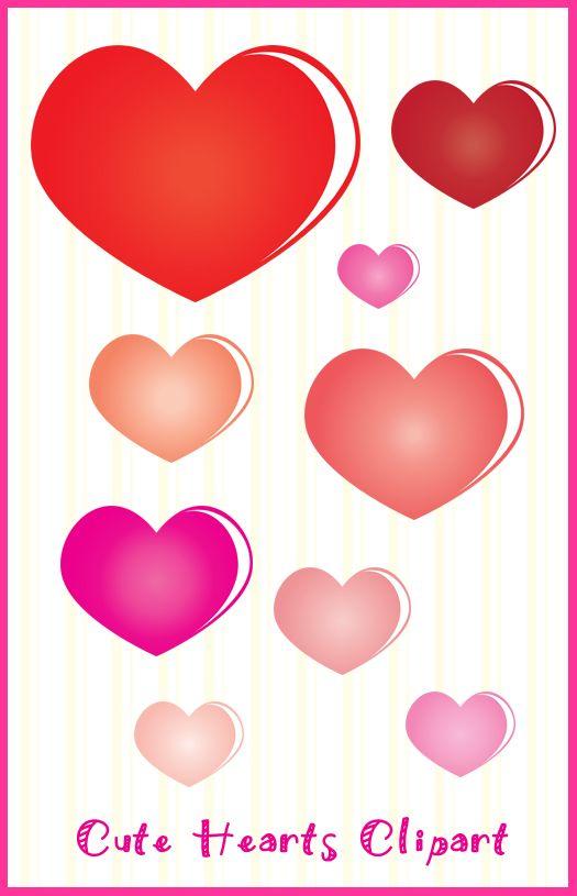 525x815 Heart Shape Clip Art, Colorful Heart Clip Art, Valentines Day