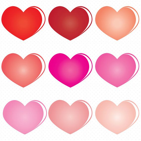 570x570 Heart Shape Clip Art Colorful Heart Clip Art By Designsnap On Etsy