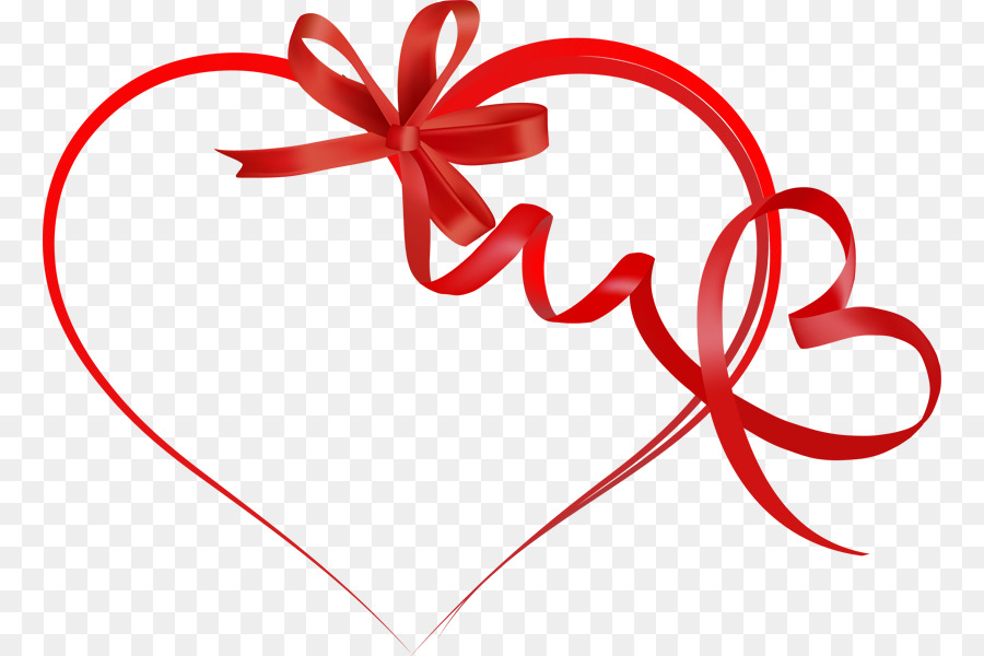 900x600 Heart Valentines Day Ribbon Clip Art